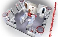 Thiết kế nội thất showroom thời trang Huệ Anh