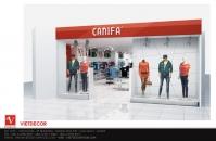 Thiết kế nội thất showroom thời trang Canifa