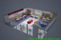 Thiết kế thi công nội thất văn phòng giao dịch Viettin Bank Long Biên